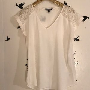 NWOT White Lace Blouse